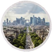 La Defense Paris Round Beach Towel
