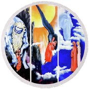 La Divina Commedia Round Beach Towel by Victor Minca