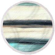 La Jolla #1 Seascape Landscape Original Fine Art Acrylic On Canvas Round Beach Towel