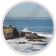 La Jolla Coves Round Beach Towel