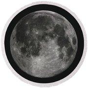 La Lune, The Moon Round Beach Towel