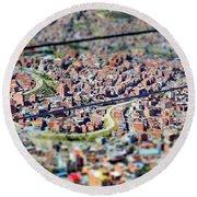 La Paz, Bolivia No. 29 Round Beach Towel by Sandy Taylor