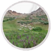 La Plata Peak Round Beach Towel