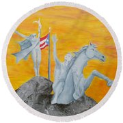 La Princesa Round Beach Towel