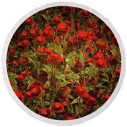 La Sevilliana Roses Round Beach Towel