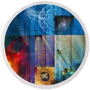 La Signatura Round Beach Towel by Kenneth Armand Johnson