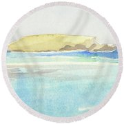 La Tortue, St Barthelemy, 1996 100x60 Cm Round Beach Towel