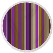 Large Purple Abstract - Two Round Beach Towel