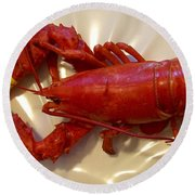 Labor Day Lobster Round Beach Towel by Patricia E Sundik