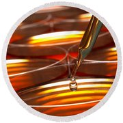 Laboratory Petri Dishes In Science Research Lab Round Beach Towel