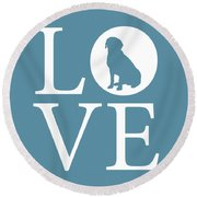 Labrador Love Round Beach Towel