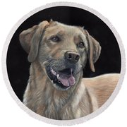 Labrador Portrait Round Beach Towel