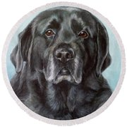 Labs Are The Most Sincere Round Beach Towel