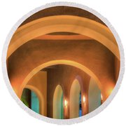 Round Beach Towel featuring the photograph Labyrinthian Arches by T Brian Jones