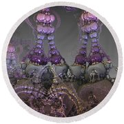 Round Beach Towel featuring the digital art Lace by Melissa Messick