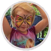 Lacey The Butterfly Round Beach Towel