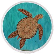 Lacey's Sea Turtle Round Beach Towel by Susie WEBER