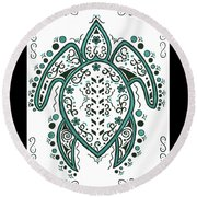 Lacey's Turtle Round Beach Towel