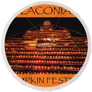 Laconia Pumpkin Fest Graphic Design 1 Round Beach Towel