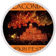 Laconia Pumpkin Festival Graphic Design 4 Round Beach Towel