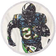 Ladainian Tomlinson 1 Round Beach Towel by Jeremiah Colley