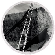 Ladder To The Sky Round Beach Towel