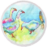 Ladies That Lunch Round Beach Towel