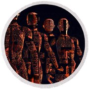 Round Beach Towel featuring the photograph Lady Hunters by Luc Van de Steeg