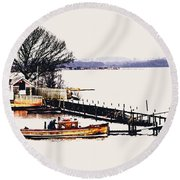 Round Beach Towel featuring the photograph Lady Jean by Jeremy Lavender Photography