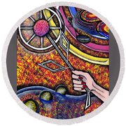 Lady Round Beach Towel