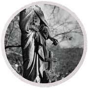 Lady Of Remembrance Round Beach Towel