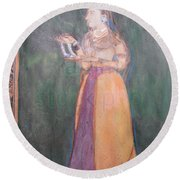 Lady Of The Court Round Beach Towel by Vikram Singh