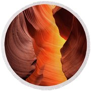 Round Beach Towel featuring the photograph Lady Of The Flame by Darren White