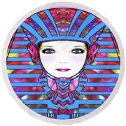 Round Beach Towel featuring the photograph Lady Tut #191 by Barbara Tristan