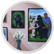 Lady's Family Gallery Round Beach Towel