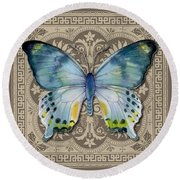 Laglaizei Butterfly Design Round Beach Towel