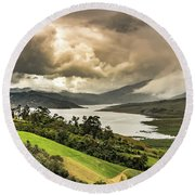 Lago Calima Round Beach Towel