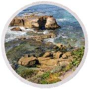 Laguna Beach California Round Beach Towel
