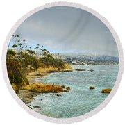 Laguna Beach Coastline Round Beach Towel by Glenn McCarthy Art and Photography