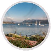 Gulf Of  Ullapool  - Photo Round Beach Towel