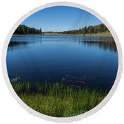 Laguna Meadow Lake Round Beach Towel