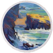 Laguna Rocks Round Beach Towel