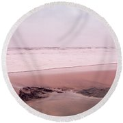 Round Beach Towel featuring the photograph Laguna Shores Memories by Heidi Hermes