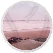 Round Beach Towel featuring the photograph Laguna Shores Memories by Heidi Hermes