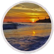 Laguna's Last Light Round Beach Towel
