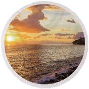 Lahaina Sunset Round Beach Towel