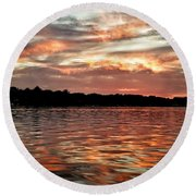 Round Beach Towel featuring the photograph Lake Beulah by Nikki McInnes