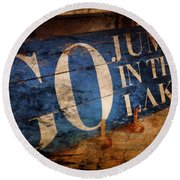 Lake Charm Round Beach Towel