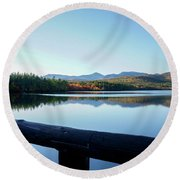 Lake Chocorua Autumn Round Beach Towel