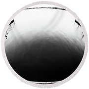 Lake Crabtree Fisheye Round Beach Towel